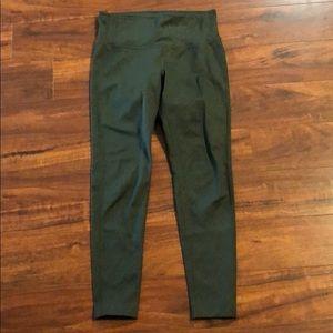 ATHLETA 7/8 olive green mid rise leggings